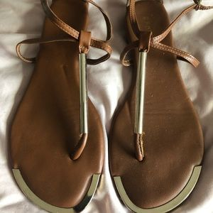 Bamboo Camel and Gold Sandal
